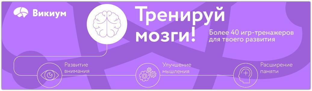 Развитие когнитивных способностей на онлайн-тренажере Викиум