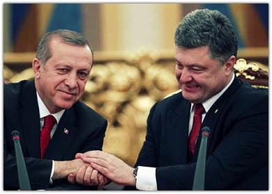 Рукопожатие Порошенко и Эрдогана